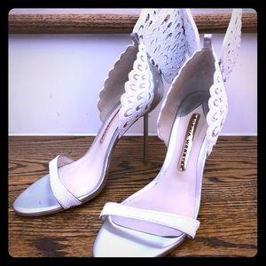 Sophia Webster Evangeline Perola Snow Wing Heels